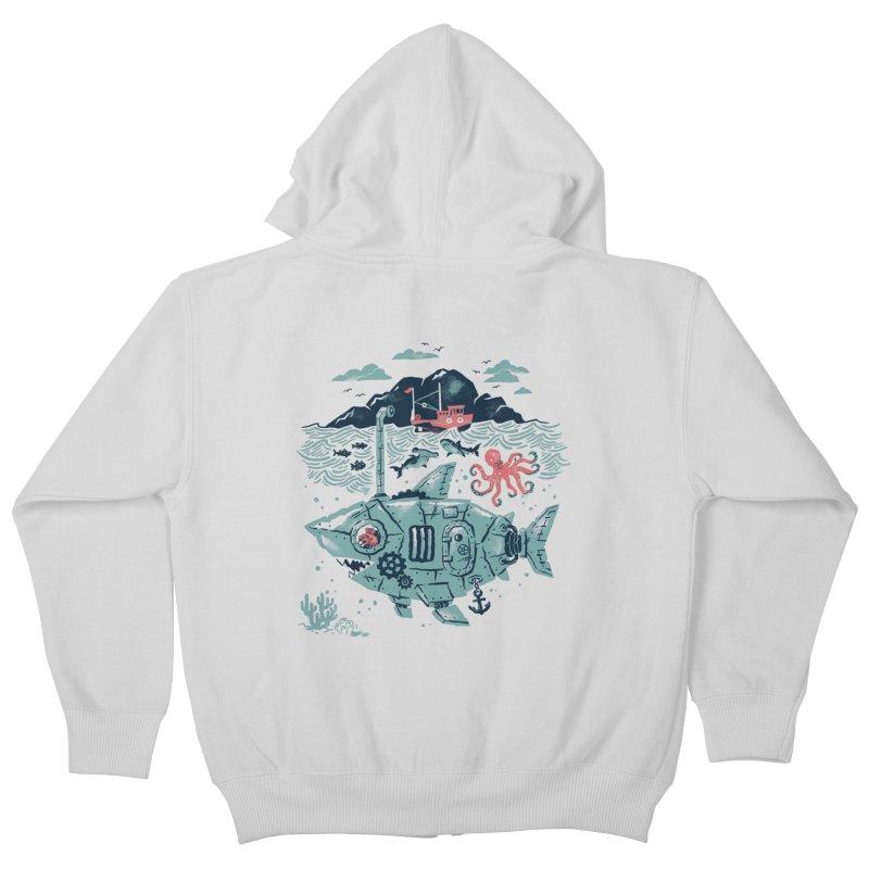 Crabby's Revenge Kids Zip-Up Hoody by CPdesign's Artist Shop