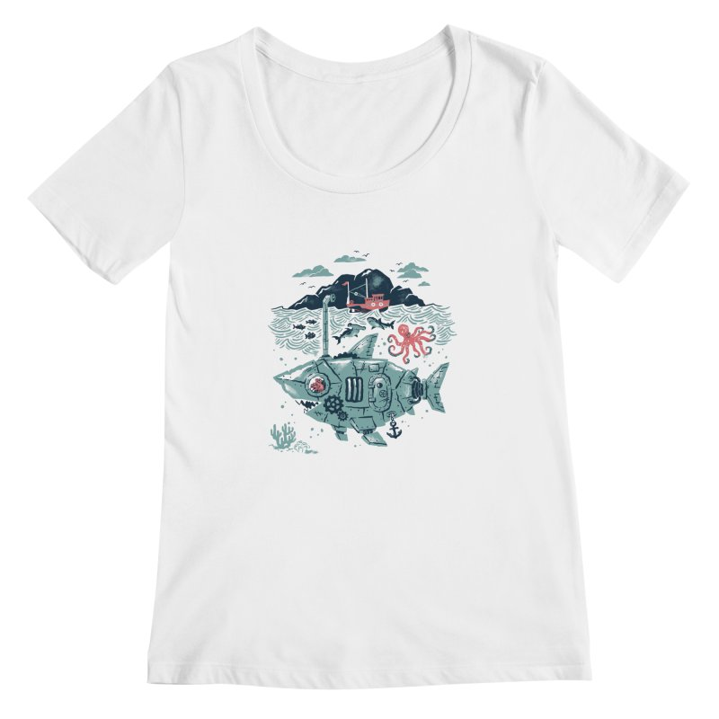 Crabby's Revenge Women's Scoopneck by CPdesign's Artist Shop