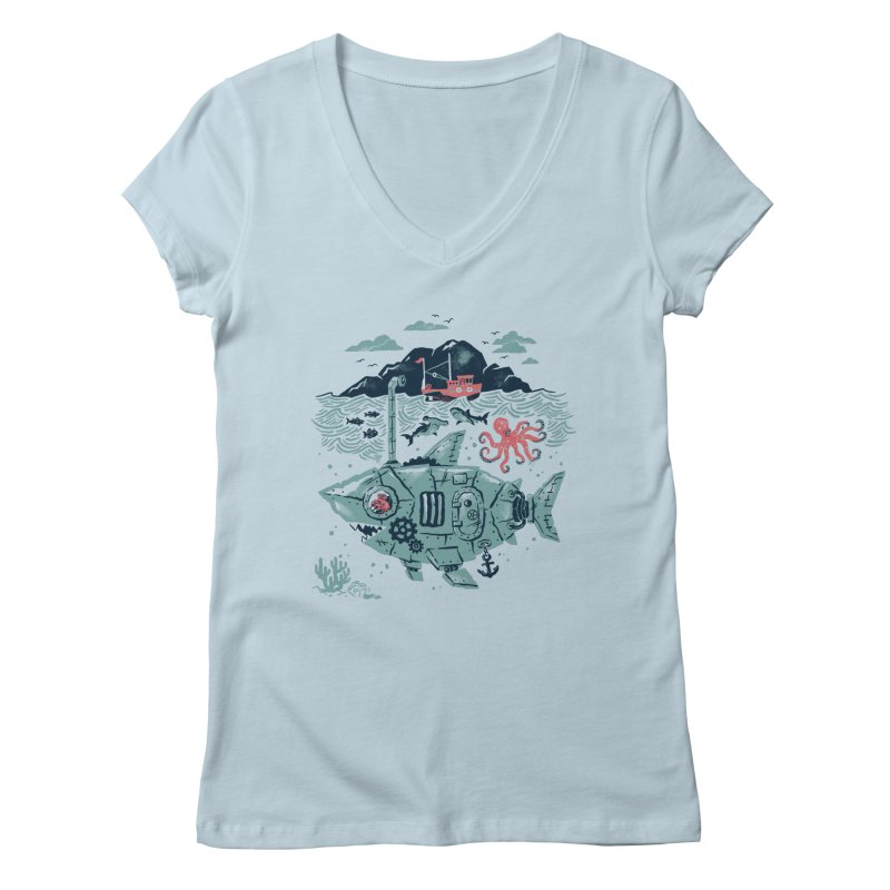 Crabby's Revenge Women's V-Neck by CPdesign's Artist Shop