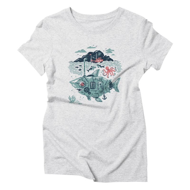 Crabby's Revenge Women's Triblend T-Shirt by CPdesign's Artist Shop