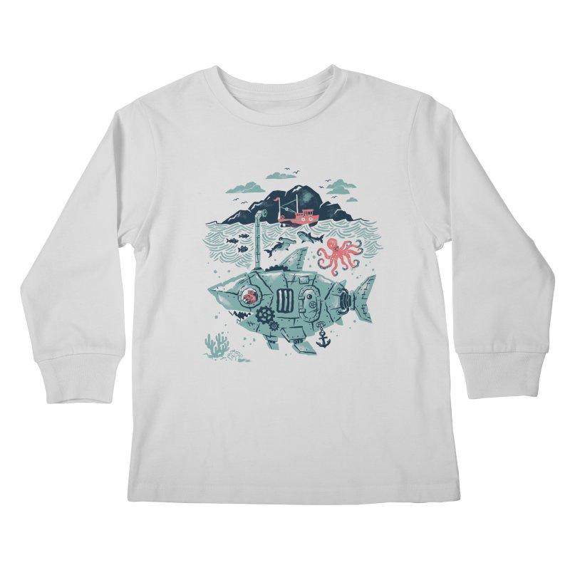 Crabby's Revenge Kids Longsleeve T-Shirt by CPdesign's Artist Shop