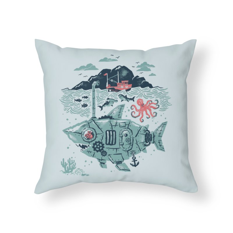 Crabby's Revenge Home Throw Pillow by CPdesign's Artist Shop