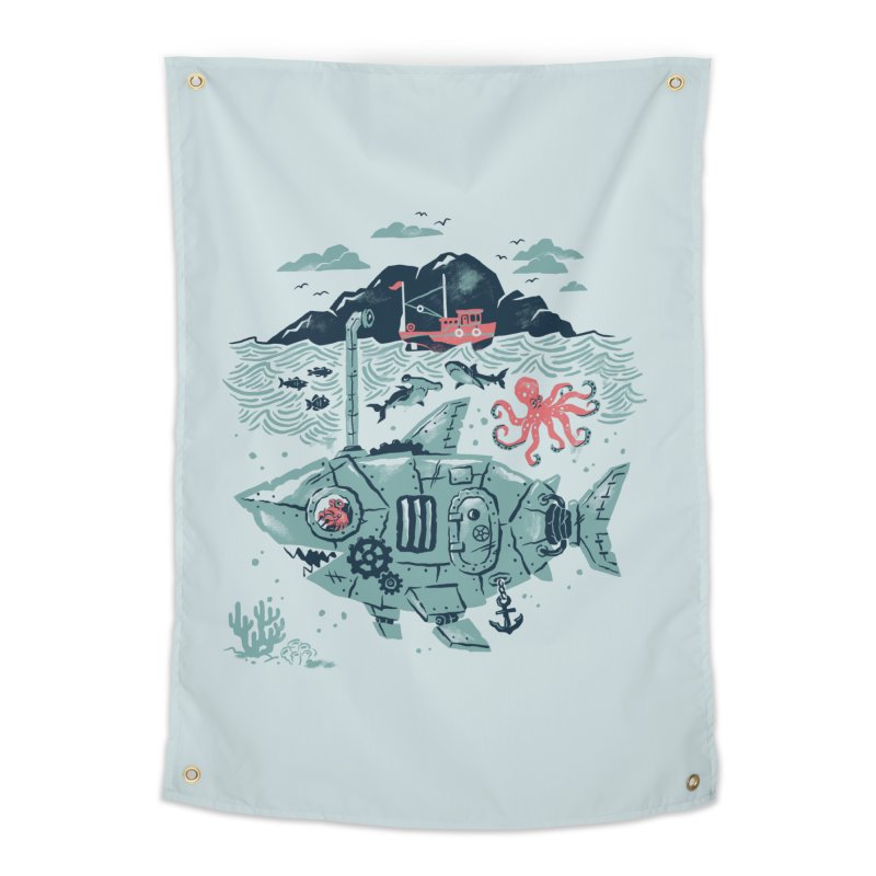 Crabby's Revenge Home Tapestry by CPdesign's Artist Shop