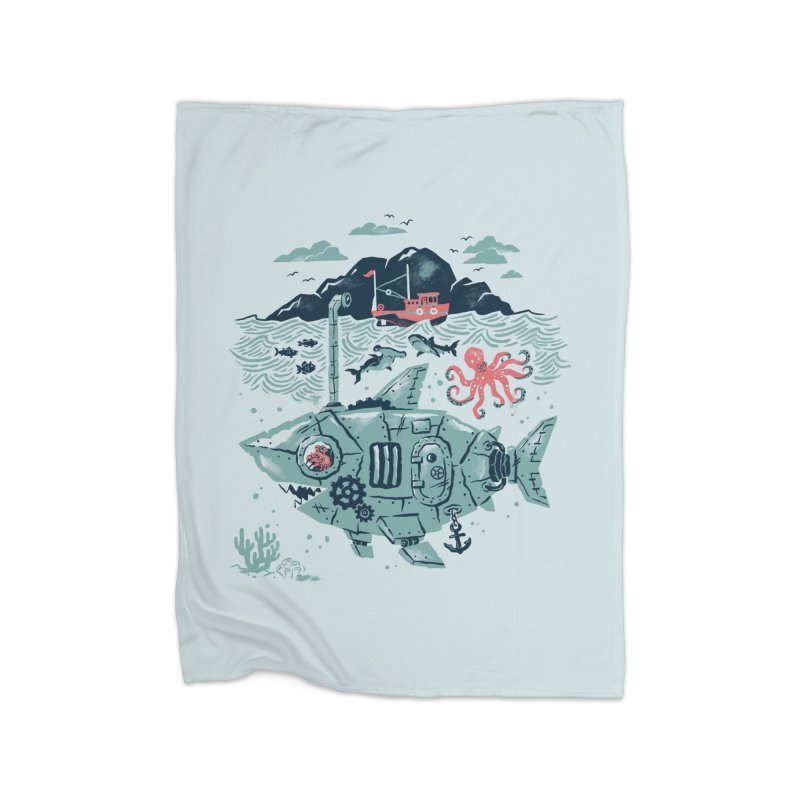 Crabby's Revenge Home Fleece Blanket by CPdesign's Artist Shop