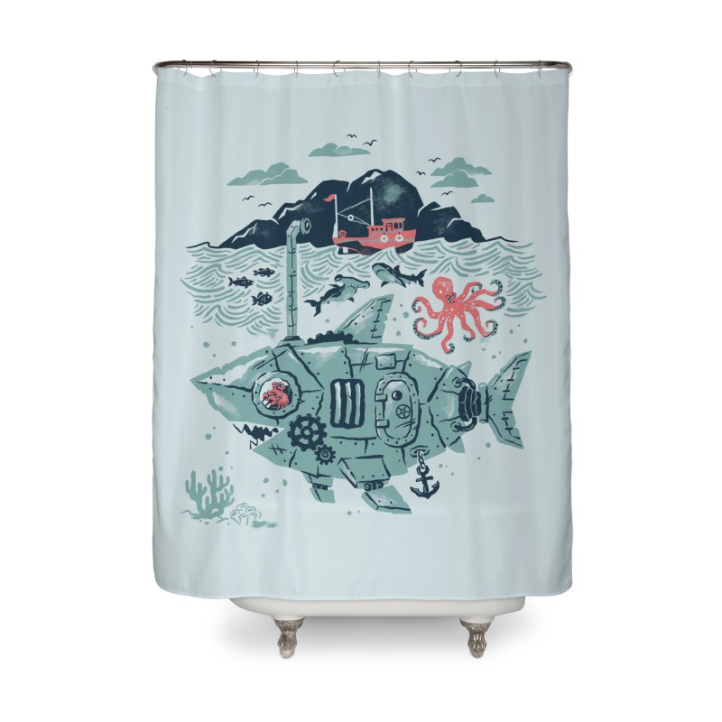 Crabby's Revenge Home Shower Curtain by CPdesign's Artist Shop