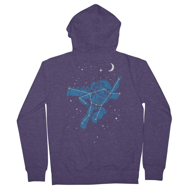 Universal Star Men's French Terry Zip-Up Hoody by CPdesign's Artist Shop