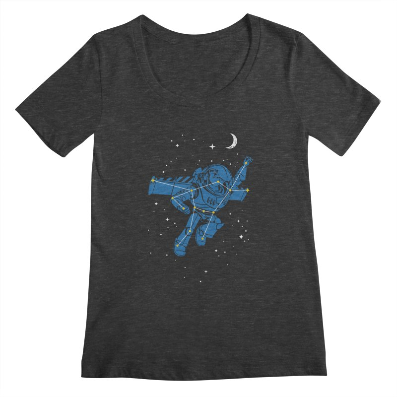Universal Star Women's Scoopneck by CPdesign's Artist Shop