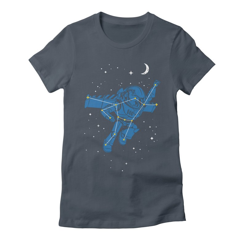 Universal Star Women's Fitted T-Shirt by CPdesign's Artist Shop