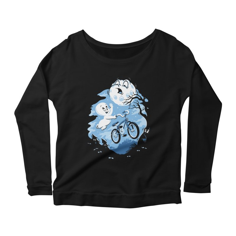 Ghost Rider Women's Longsleeve Scoopneck  by CPdesign's Artist Shop
