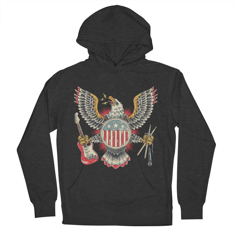 American Rockstar Women's French Terry Pullover Hoody by CPdesign's Artist Shop