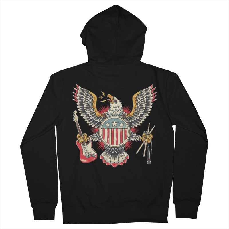 American Rockstar Women's French Terry Zip-Up Hoody by CPdesign's Artist Shop