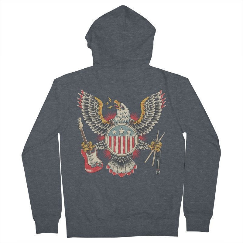 American Rockstar Men's French Terry Zip-Up Hoody by CPdesign's Artist Shop