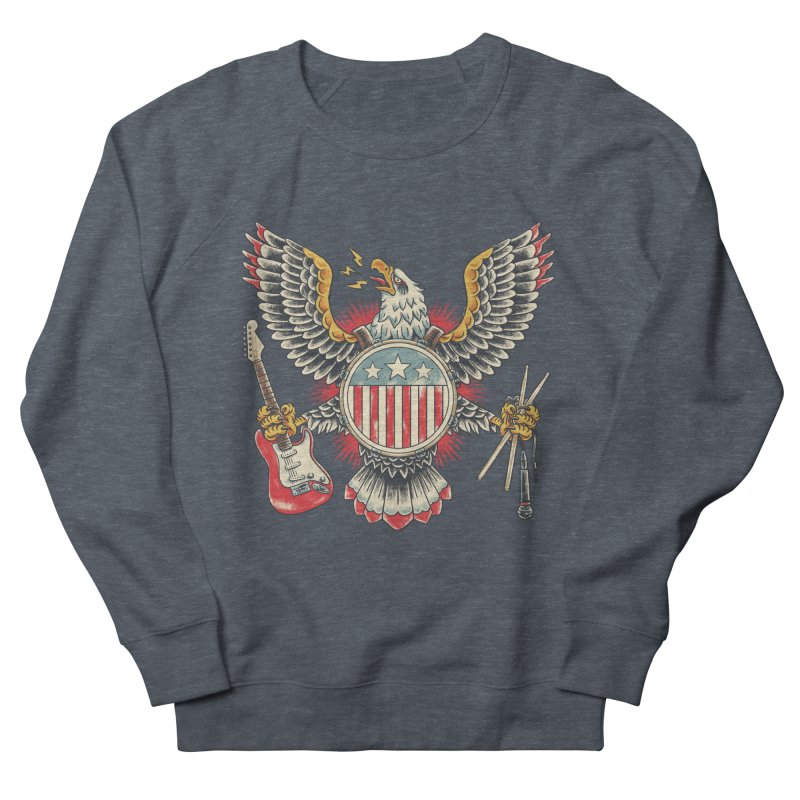 American Rockstar Men's French Terry Sweatshirt by CPdesign's Artist Shop