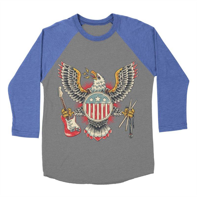 American Rockstar Men's Baseball Triblend T-Shirt by CPdesign's Artist Shop