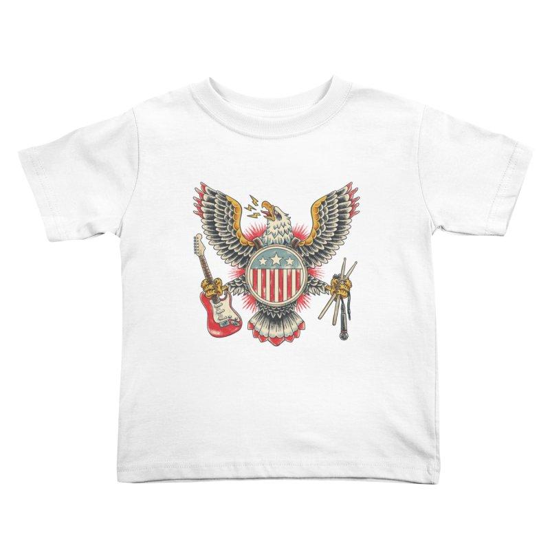 American Rockstar Kids Toddler T-Shirt by CPdesign's Artist Shop