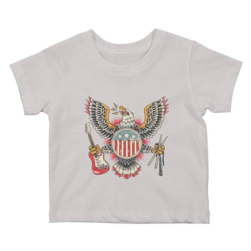 American Rockstar Kids Baby T-Shirt by CPdesign's Artist Shop