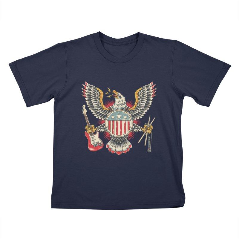 American Rockstar Kids T-Shirt by CPdesign's Artist Shop