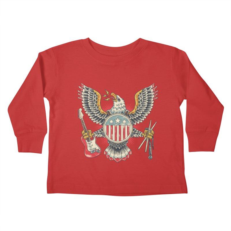 American Rockstar Kids Toddler Longsleeve T-Shirt by CPdesign's Artist Shop