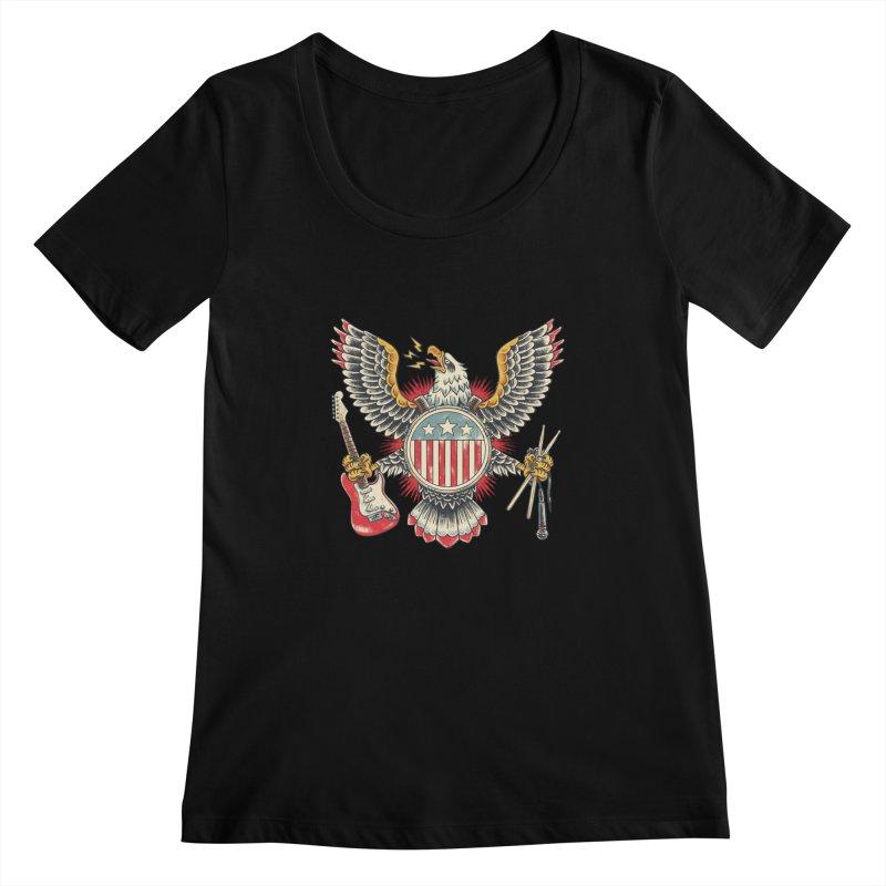 American Rockstar Women's Scoopneck by CPdesign's Artist Shop