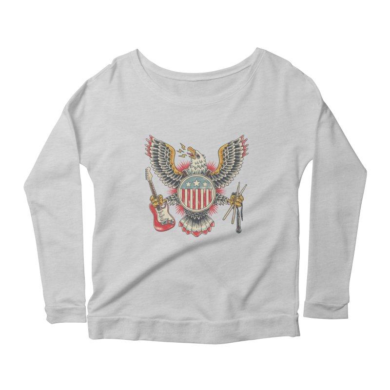 American Rockstar Women's Scoop Neck Longsleeve T-Shirt by CPdesign's Artist Shop