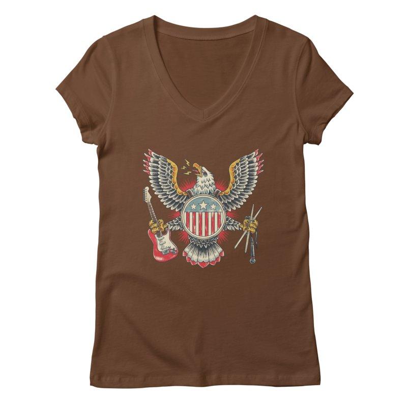 American Rockstar Women's V-Neck by CPdesign's Artist Shop