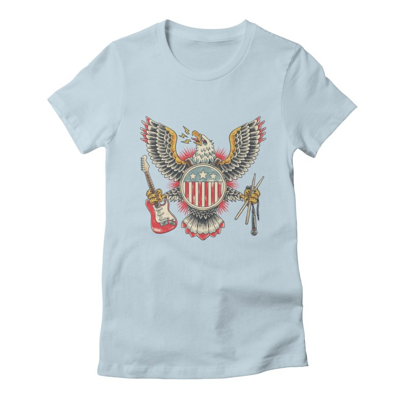 American Rockstar Women's T-Shirt by CPdesign's Artist Shop