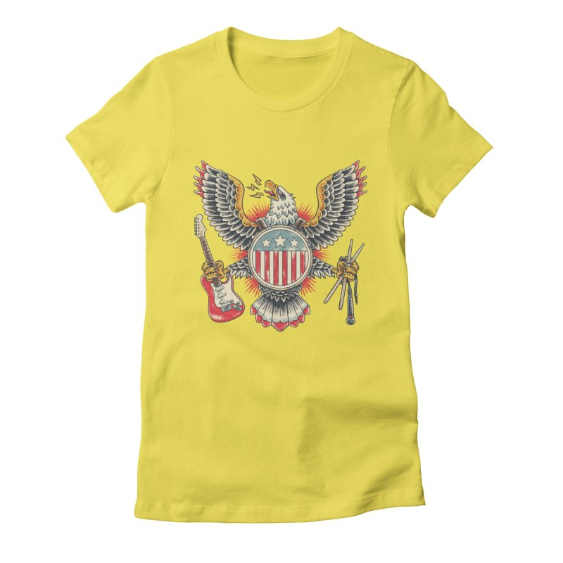 American Rockstar Women's Fitted T-Shirt by CPdesign's Artist Shop