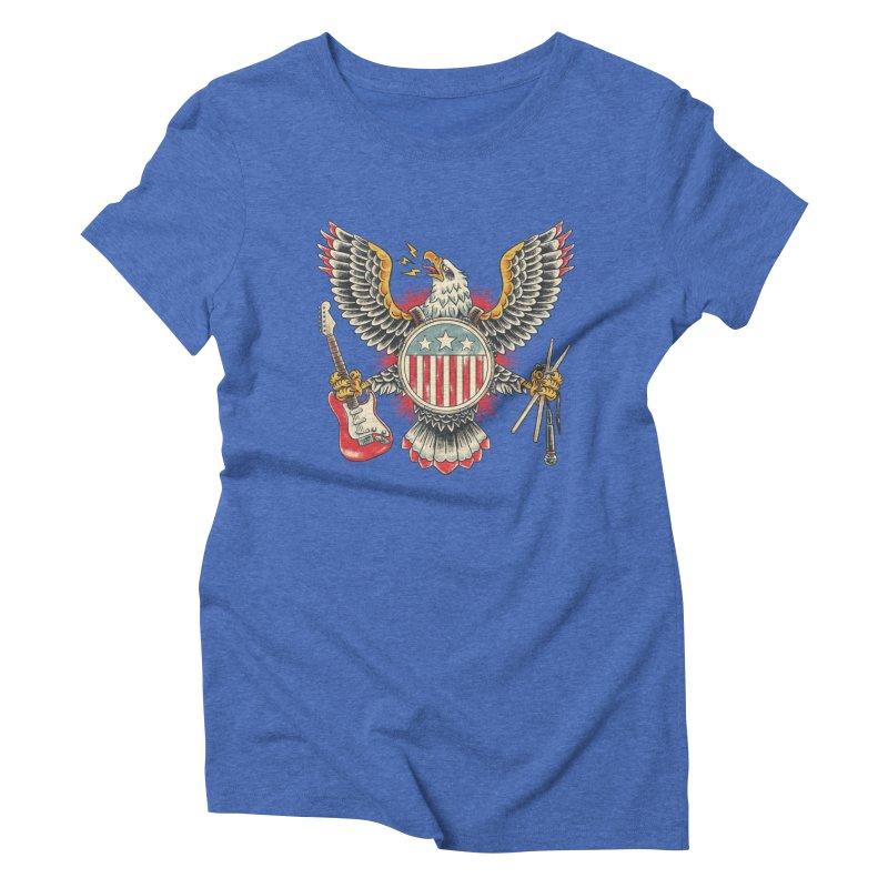 American Rockstar Women's Triblend T-Shirt by CPdesign's Artist Shop