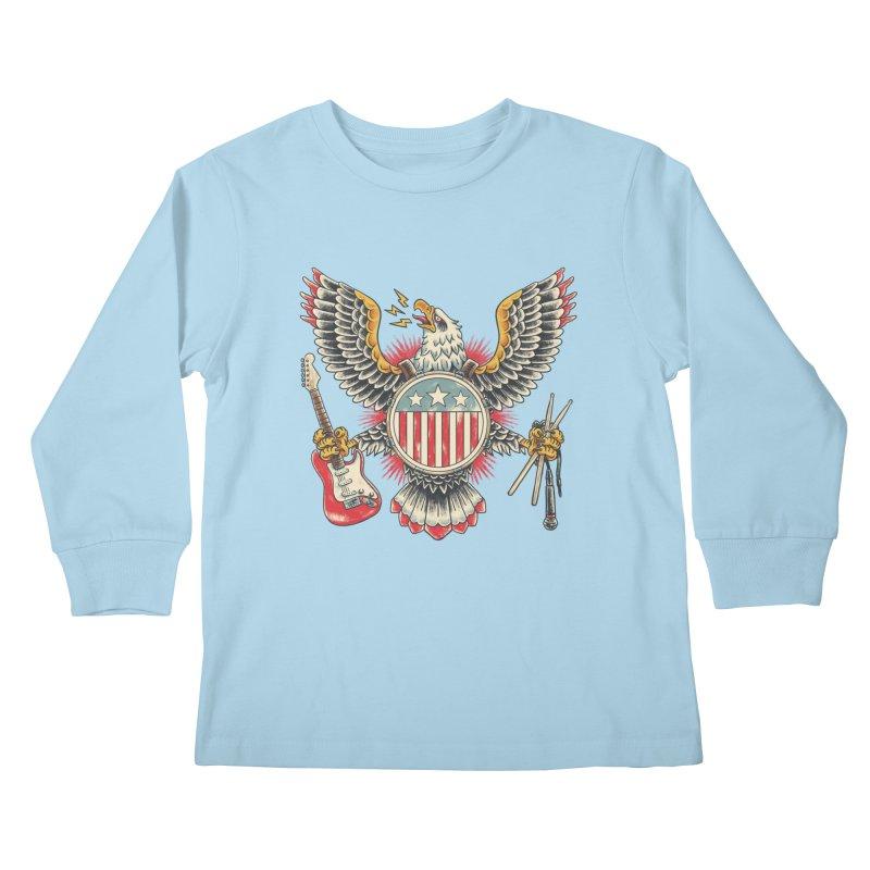 American Rockstar Kids Longsleeve T-Shirt by CPdesign's Artist Shop