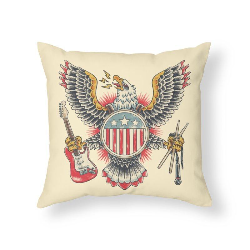 American Rockstar Home Throw Pillow by CPdesign's Artist Shop