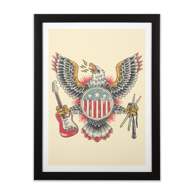 American Rockstar Home Framed Fine Art Print by CPdesign's Artist Shop