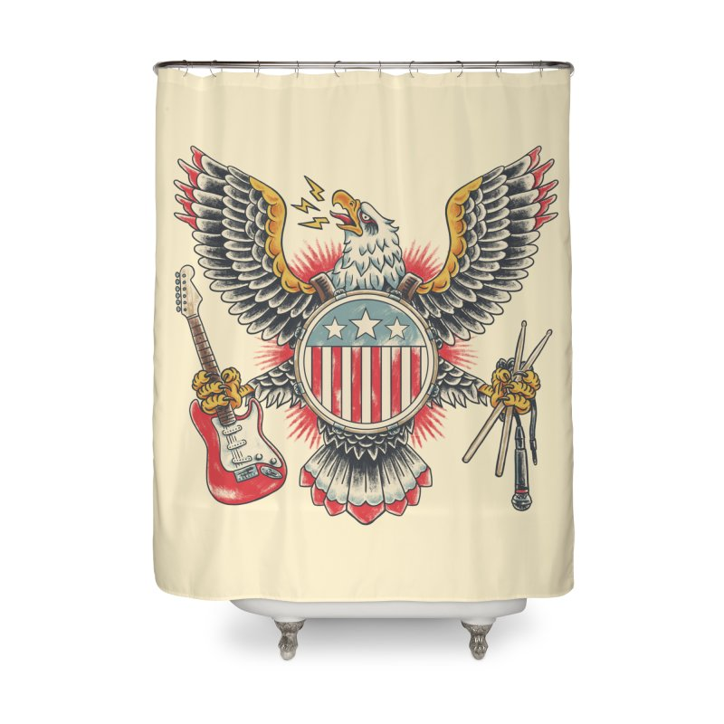 American Rockstar Home Shower Curtain by CPdesign's Artist Shop