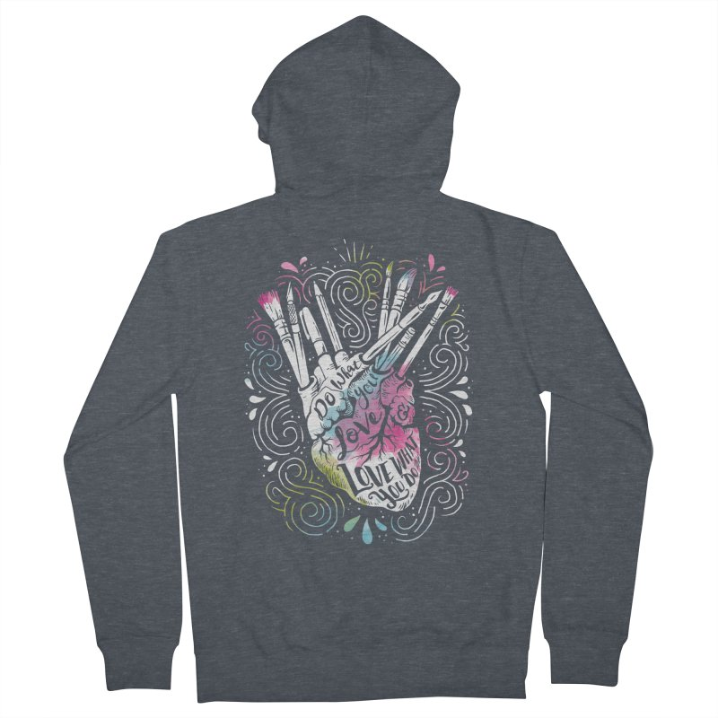 A Heart For Art Women's Zip-Up Hoody by CPdesign's Artist Shop