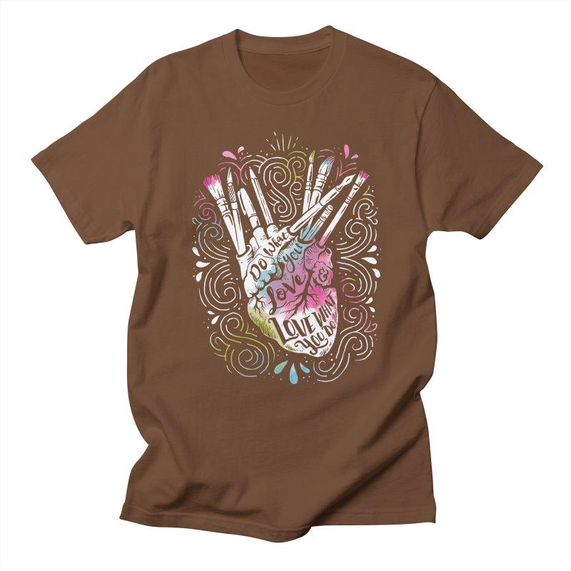 A Heart For Art Men's T-shirt by CPdesign's Artist Shop