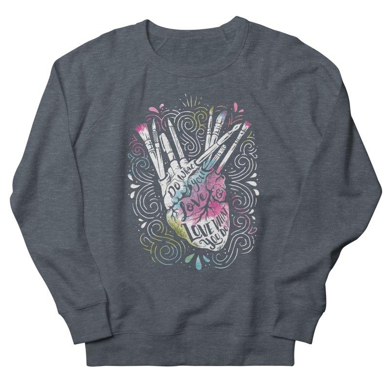 A Heart For Art Men's Sweatshirt by CPdesign's Artist Shop