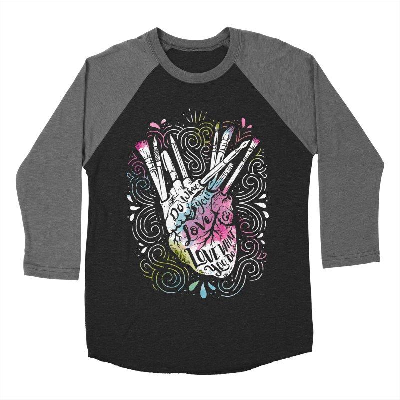 A Heart For Art Women's Baseball Triblend T-Shirt by CPdesign's Artist Shop
