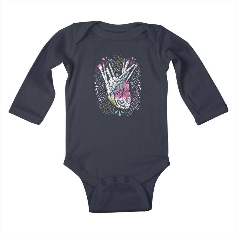 A Heart For Art Kids Baby Longsleeve Bodysuit by CPdesign's Artist Shop