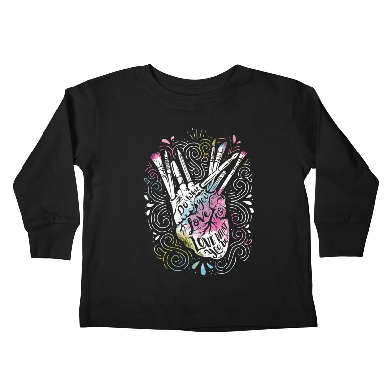 A Heart For Art Kids Toddler Longsleeve T-Shirt by CPdesign's Artist Shop