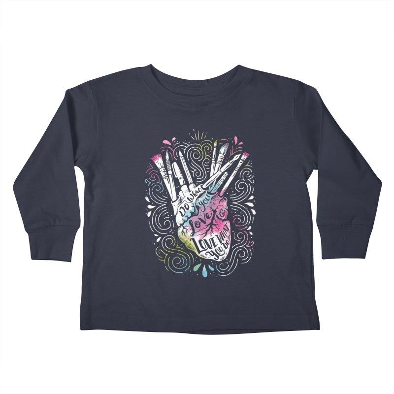 A Heart For Art Kids Toddler Longsleeve T-Shirt by CPdesign's Artist Shop
