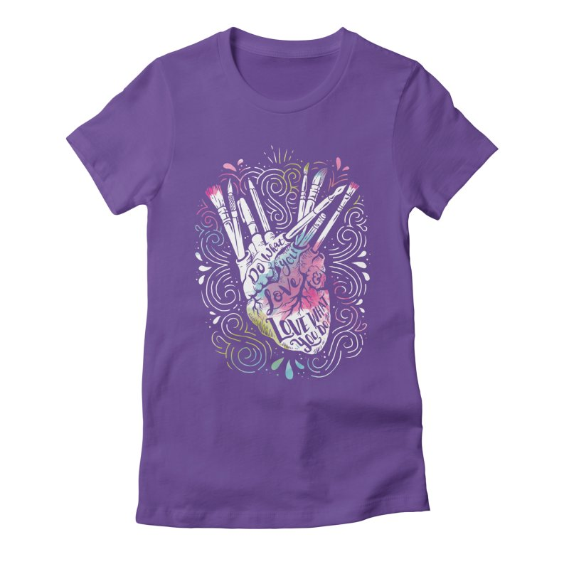 A Heart For Art Women's Fitted T-Shirt by CPdesign's Artist Shop