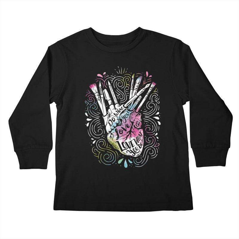 A Heart For Art Kids Longsleeve T-Shirt by CPdesign's Artist Shop