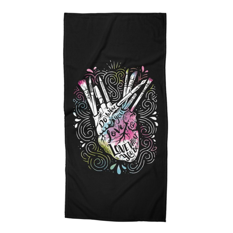 A Heart For Art Accessories Beach Towel by CPdesign's Artist Shop