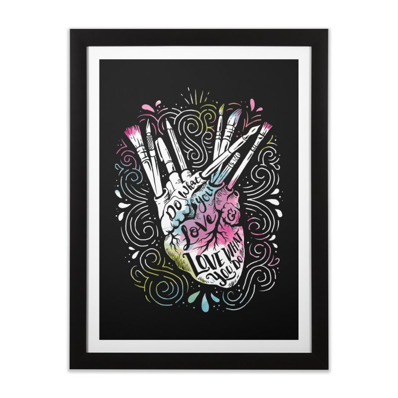 A Heart For Art Home Framed Fine Art Print by CPdesign's Artist Shop