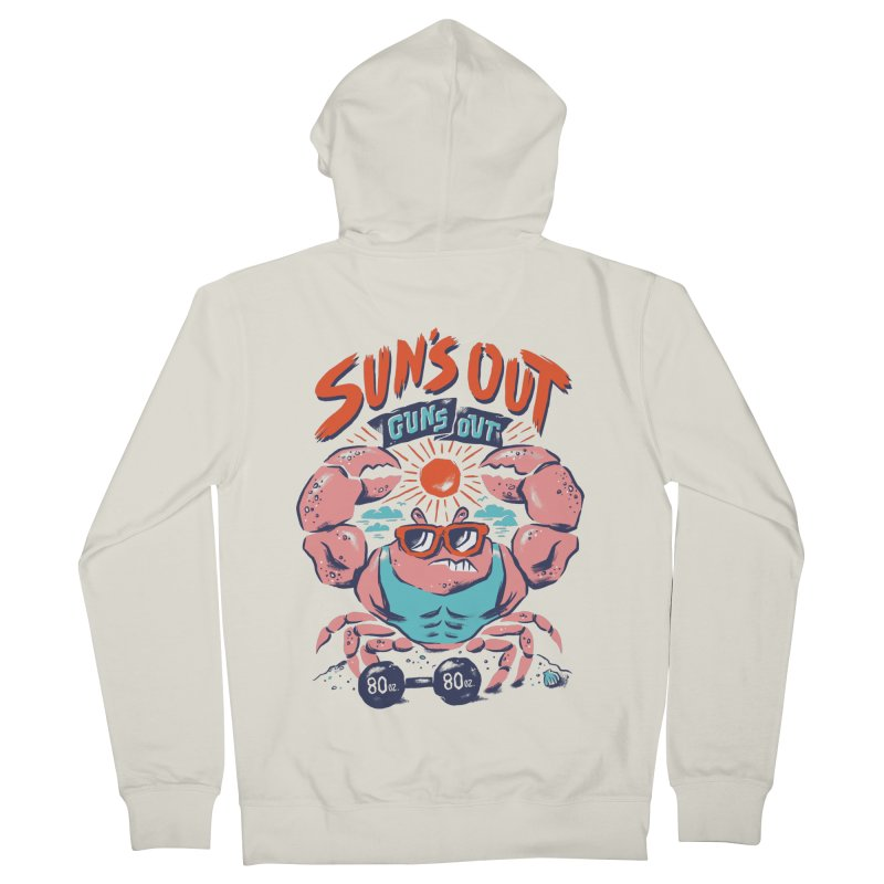 Suns Out Guns Out Women's French Terry Zip-Up Hoody by CPdesign's Artist Shop