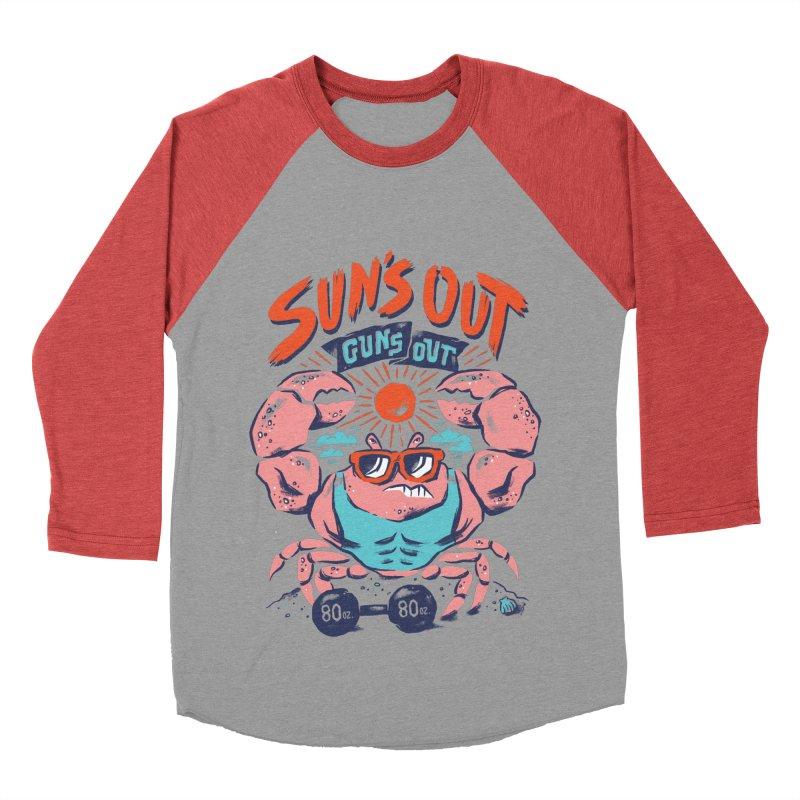 Suns Out Guns Out Women's Baseball Triblend T-Shirt by CPdesign's Artist Shop