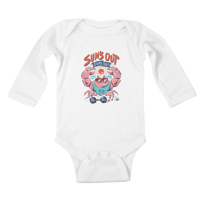 Suns Out Guns Out Kids Baby Longsleeve Bodysuit by CPdesign's Artist Shop