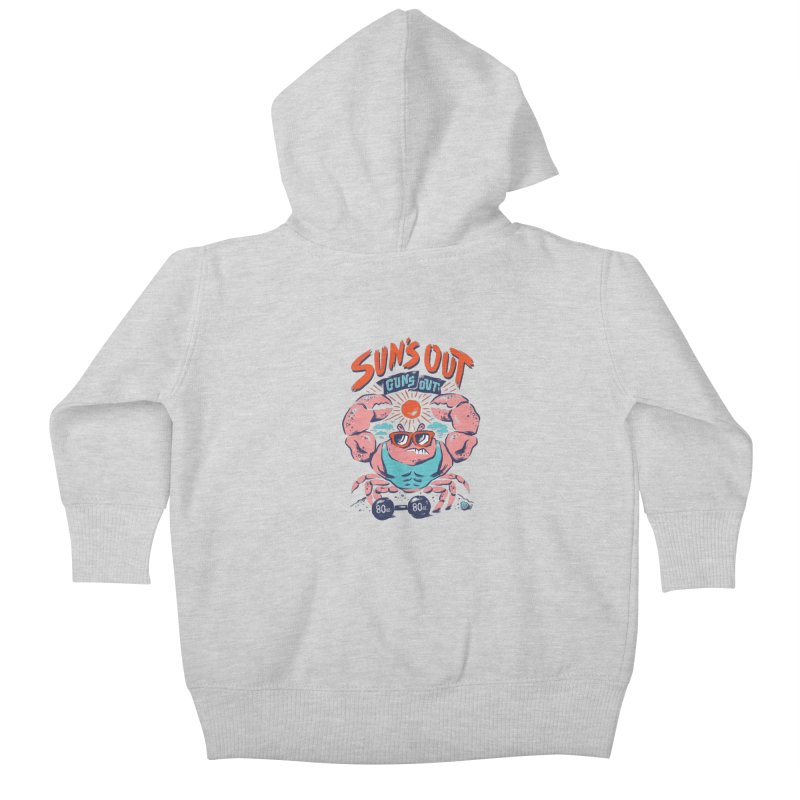 Suns Out Guns Out Kids Baby Zip-Up Hoody by CPdesign's Artist Shop