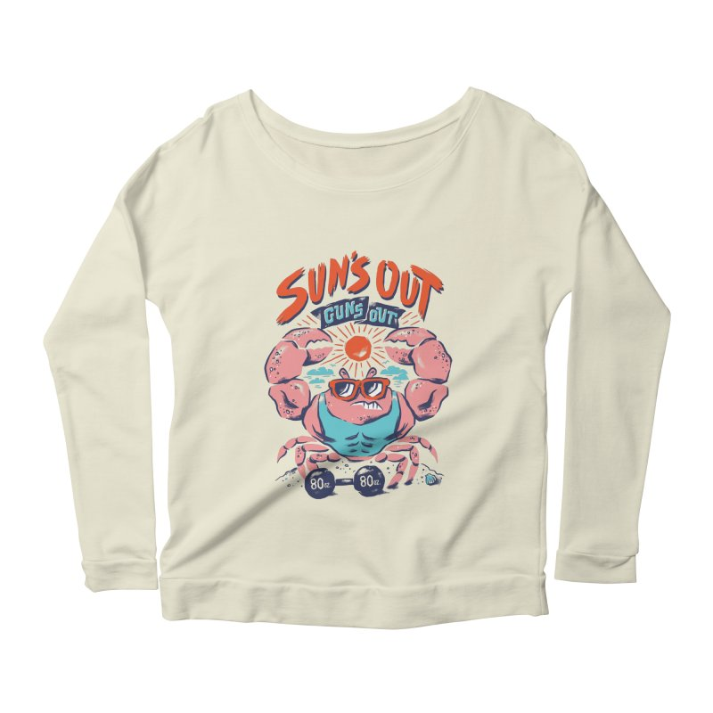 Suns Out Guns Out Women's Longsleeve Scoopneck  by CPdesign's Artist Shop
