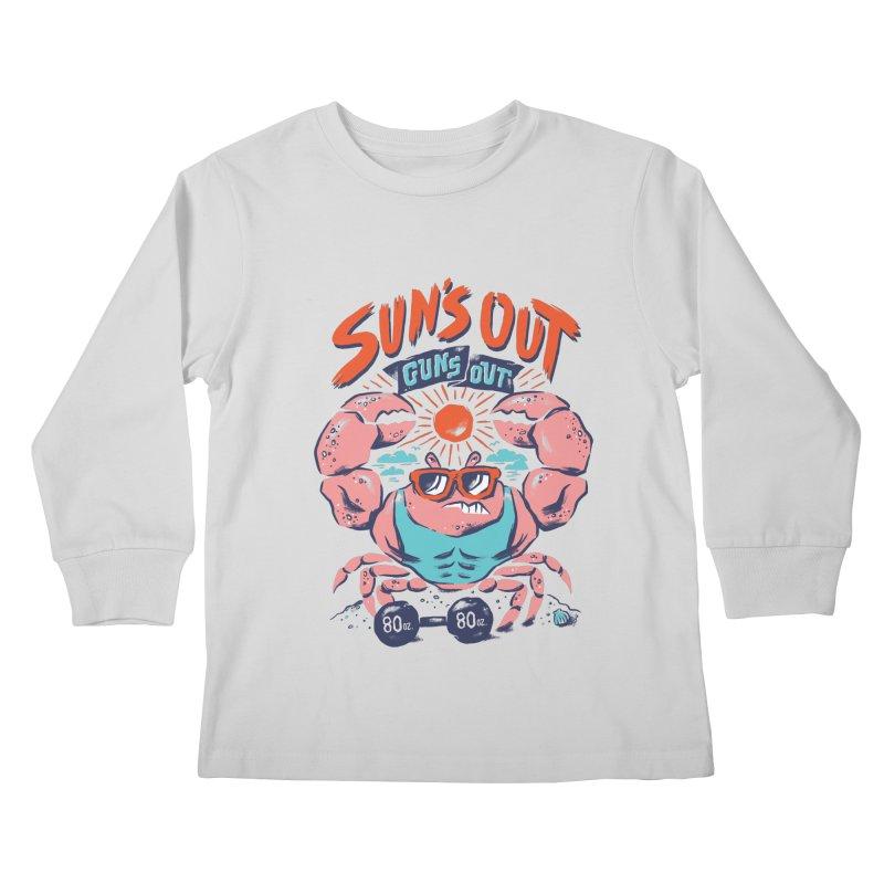 Suns Out Guns Out Kids Longsleeve T-Shirt by CPdesign's Artist Shop