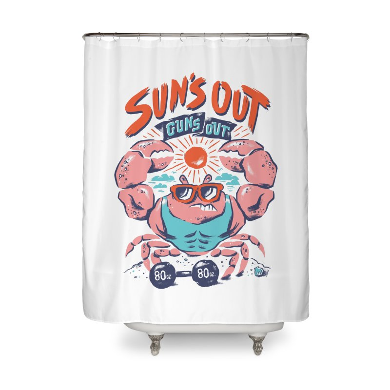 Suns Out Guns Out Home Shower Curtain by CPdesign's Artist Shop